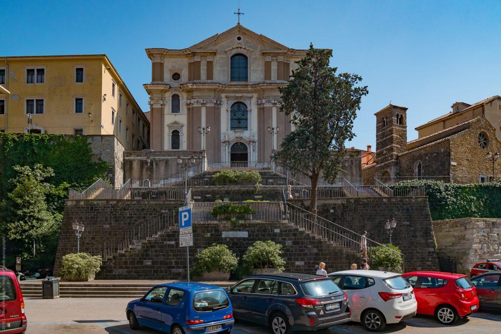Santa Maria Maggioere Dei Gesuiti and San Silvestre (right) in Trieste
